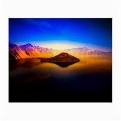 Crater Lake Oregon Mountains Small Glasses Cloth