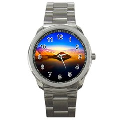 Crater Lake Oregon Mountains Sport Metal Watch