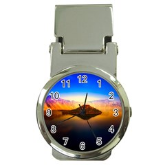 Crater Lake Oregon Mountains Money Clip Watches