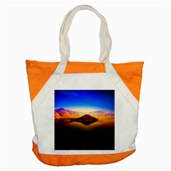 Crater Lake Oregon Mountains Accent Tote Bag