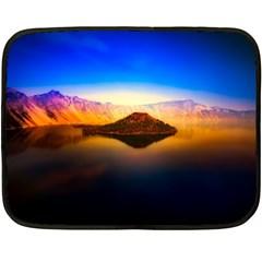 Crater Lake Oregon Mountains Fleece Blanket (mini)