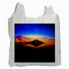 Crater Lake Oregon Mountains Recycle Bag (one Side)