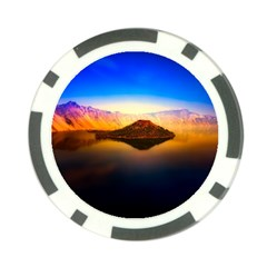 Crater Lake Oregon Mountains Poker Chip Card Guard (10 Pack)
