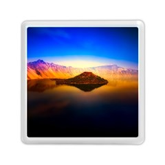 Crater Lake Oregon Mountains Memory Card Reader (square)