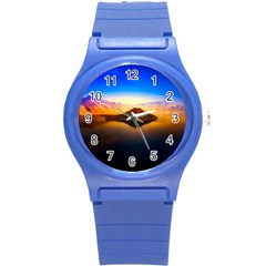 Crater Lake Oregon Mountains Round Plastic Sport Watch (s)