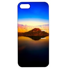 Crater Lake Oregon Mountains Apple Iphone 5 Hardshell Case With Stand