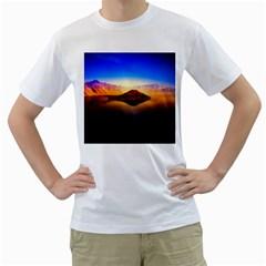 Crater Lake Oregon Mountains Men s T Shirt (white)