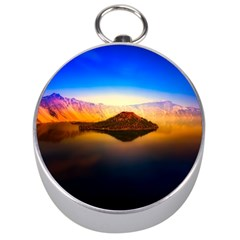 Crater Lake Oregon Mountains Silver Compasses