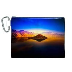 Crater Lake Oregon Mountains Canvas Cosmetic Bag (xl)