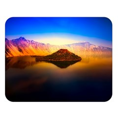 Crater Lake Oregon Mountains Double Sided Flano Blanket (large)