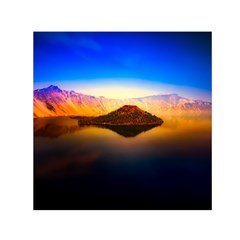 Crater Lake Oregon Mountains Small Satin Scarf (square)