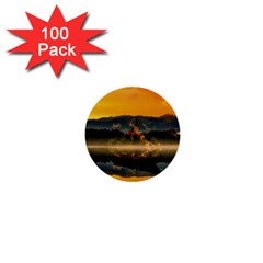 Bled Slovenia Sunrise Fog Mist 1  Mini Buttons (100 Pack)