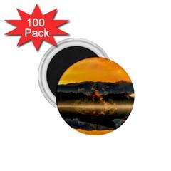Bled Slovenia Sunrise Fog Mist 1 75  Magnets (100 Pack)
