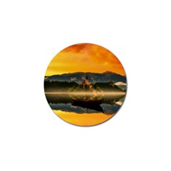 Bled Slovenia Sunrise Fog Mist Golf Ball Marker
