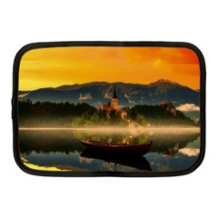 Bled Slovenia Sunrise Fog Mist Netbook Case (medium)