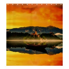 Bled Slovenia Sunrise Fog Mist Shower Curtain 66  X 72  (large)