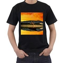 Bled Slovenia Sunrise Fog Mist Men s T Shirt (black)