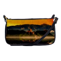 Bled Slovenia Sunrise Fog Mist Shoulder Clutch Bags