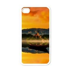 Bled Slovenia Sunrise Fog Mist Apple Iphone 4 Case (white)