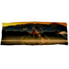 Bled Slovenia Sunrise Fog Mist Body Pillow Case Dakimakura (two Sides)
