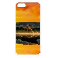 Bled Slovenia Sunrise Fog Mist Apple Iphone 5 Seamless Case (white)