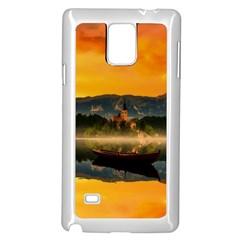 Bled Slovenia Sunrise Fog Mist Samsung Galaxy Note 4 Case (white)