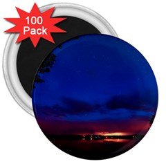 Canada Lake Night Evening Stars 3  Magnets (100 Pack)