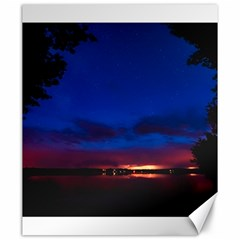 Canada Lake Night Evening Stars Canvas 20  X 24