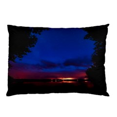 Canada Lake Night Evening Stars Pillow Case