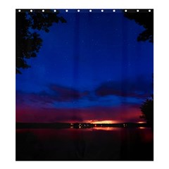 Canada Lake Night Evening Stars Shower Curtain 66  X 72  (large)
