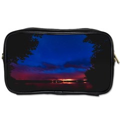 Canada Lake Night Evening Stars Toiletries Bags 2 Side
