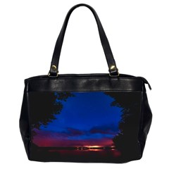 Canada Lake Night Evening Stars Office Handbags (2 Sides)