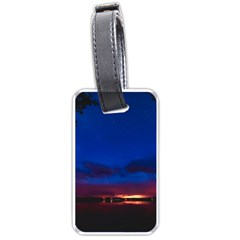 Canada Lake Night Evening Stars Luggage Tags (two Sides)