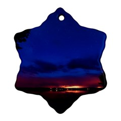 Canada Lake Night Evening Stars Ornament (snowflake)