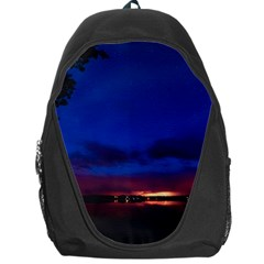 Canada Lake Night Evening Stars Backpack Bag