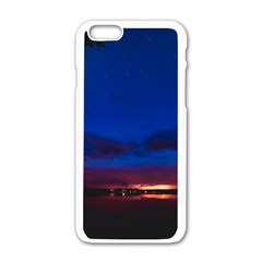 Canada Lake Night Evening Stars Apple Iphone 6/6s White Enamel Case