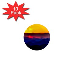 Austria Landscape Sky Clouds 1  Mini Magnet (10 Pack)