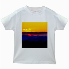 Austria Landscape Sky Clouds Kids White T Shirts