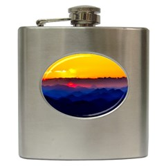 Austria Landscape Sky Clouds Hip Flask (6 Oz)