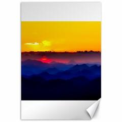 Austria Landscape Sky Clouds Canvas 12  X 18