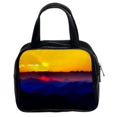 Austria Landscape Sky Clouds Classic Handbags (2 Sides)