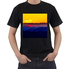 Austria Landscape Sky Clouds Men s T Shirt (black)