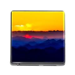 Austria Landscape Sky Clouds Memory Card Reader (square)