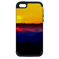 Austria Landscape Sky Clouds Apple Iphone 5 Hardshell Case (pc+silicone)