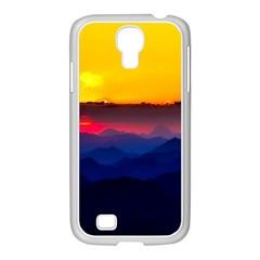 Austria Landscape Sky Clouds Samsung Galaxy S4 I9500/ I9505 Case (white)
