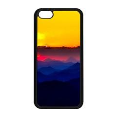 Austria Landscape Sky Clouds Apple Iphone 5c Seamless Case (black)