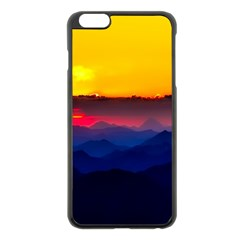 Austria Landscape Sky Clouds Apple Iphone 6 Plus/6s Plus Black Enamel Case