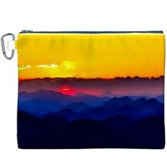 Austria Landscape Sky Clouds Canvas Cosmetic Bag (xxxl)