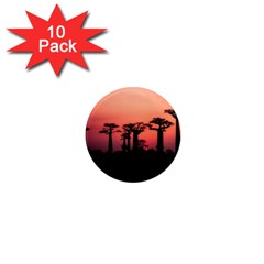 Baobabs Trees Silhouette Landscape 1  Mini Magnet (10 Pack)