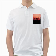 Baobabs Trees Silhouette Landscape Golf Shirts